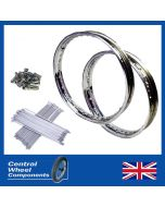 "Suzuki Stainless Wheel Rim & Spokes Kit Front and Rear 19"" & 18"" (Set) Included"