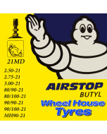 "Michelin 21"" (Road) Tube 2.50 - 3.00-21 80/90 - 90/100-21"
