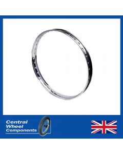 Polished BSA Stainless Steel Wheel Rim - Bantam D1 & D3 -Single Sided- Front - (18inchWM1)