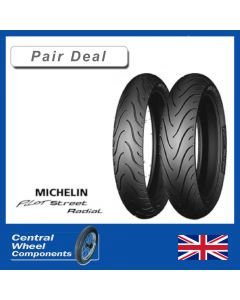 120/70ZR17 & 180/55ZR17 - Michelin Pilot Street Radial - Pair Deal