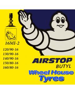 Michelin Tube (Offset Straight Metal Valve) 120/90, 130/90, 140/90, 150/80, 160/80-16