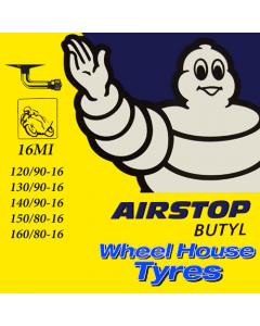Michelin Tube (Central 90 Deg Valve) 120/90, 130/90, 140/90, 150/80, 160/80-16