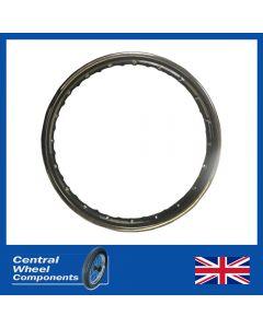 """19 x 1.85 (40) WM2 Triumph 7"""" 1/2 Width - M20 BSA 1/2 Width - Powder Coated Gloss black"""