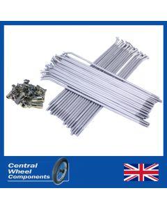 Spoke Set (Stainless) -  Matchless (G2) 6 Tin Centre Full Width Hub - Front (17 Rim)