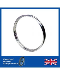 21 x 1.60 - Non Valanced (Flangeless) - Polished Alloy Rim AJS Stormer - single sided front