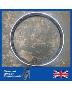 19 x 1.85 (WM2) Standard Chrome Rim - Triumph (BSA) Conical Front - A50 A65 A75 B25 B50 TR6 T120